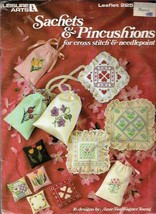Sachets Pincushions in Counted Cross Stitch & Needlepoint Leisure Arts 225 1982 - $4.45