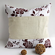 [Floral Ocean] Linen Stylish Pillow Cushion - $19.99