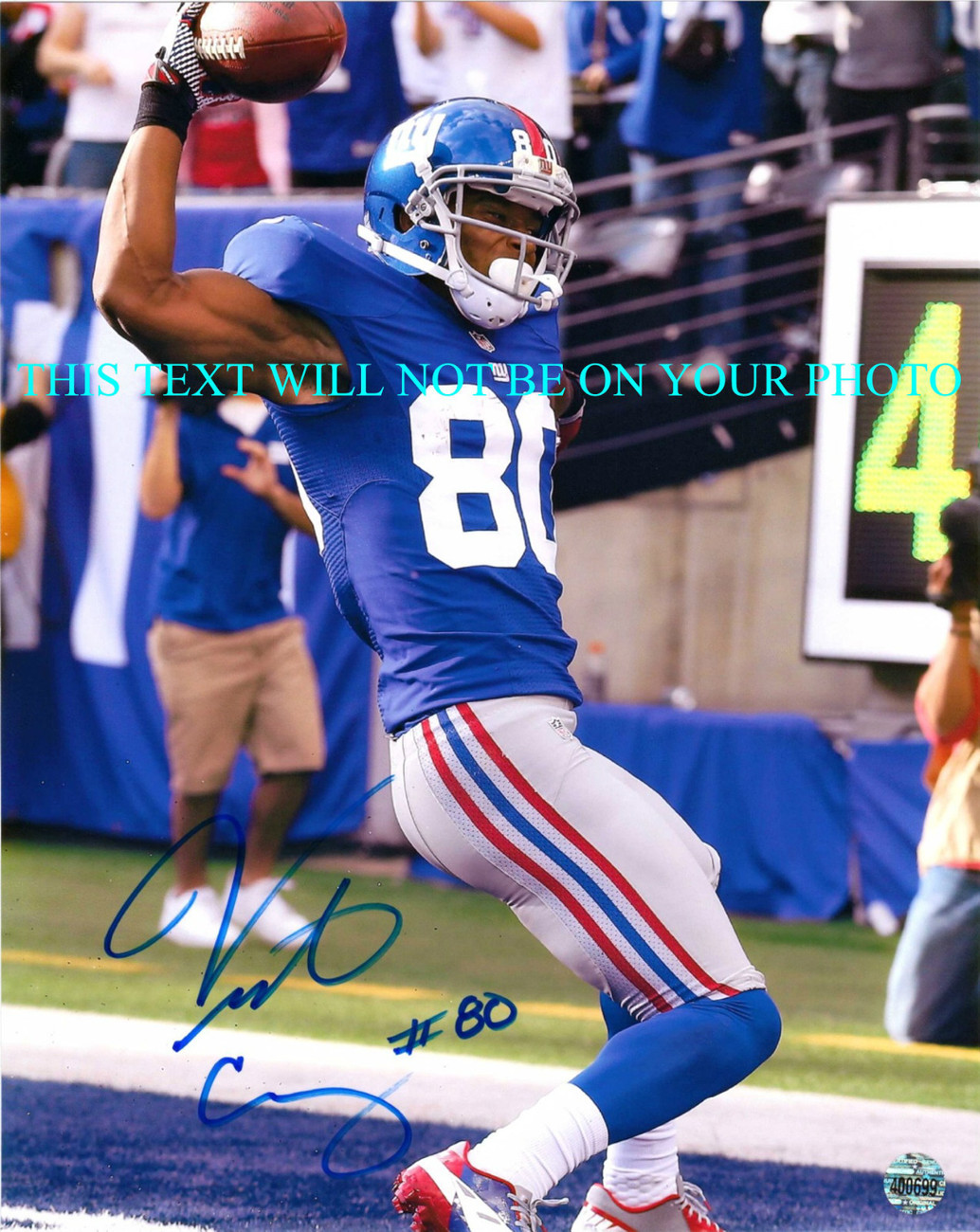 Primary image for VICTOR CRUZ AUTOGRAPHED AUTO 8x10 RP PHOTO NY GIANTS AMAZING