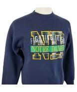 Vintage Logo 7 Notre Dame Fighting Irish Sweatshirt Large Crew Embroider... - $25.99