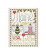 Maine Little State Sampler cross stitch chart Alma Lynne Originals - $6.50