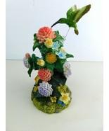 "Hummingbird Figurine Bird Floral Flowers Figurine 7-1/2"" Tall - $24.49"