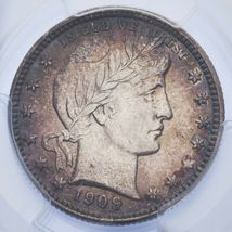 1909-D 25C Barber Quarter Graded by PCGS as AU-58! Gorgeous Silver Coin! image 3