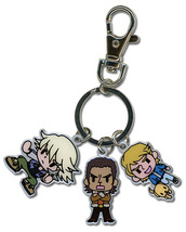 Tiger & Bunny SD Ivan, Antonia & Keith Metal Key Chain GE36579 NEW! - $8.99