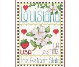 Louisiana Little State Sampler cross stitch chart Alma Lynne Originals - $6.50