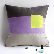 [Square Feeling] Knitted Fabric Pillow Cushion - $23.99