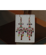 Multi-colored crystal chandelier earrings - $30.00