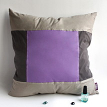 [Purple Charm] Knitted Fabric Pillow Cushion - $23.99