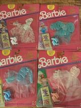 Lot 4 Nrfb Barbie 1989 Ice Capades Skating Fashion Sets 4078 4079 4082 4083 Set - $50.00