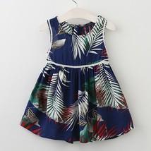 Girls Printed Sleeveless Princess Dress Kids Summer Dresses Children Clo... - $34.99