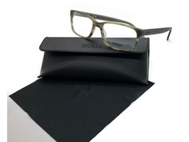 Guess Olive Eyeglasses Frame Remove Demo lenses for RX GU1843 GRN 55MM - $33.92