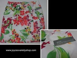Covington Women's Sateen Skirt Sangria NWT Multi-Color Floral SZ 12P - $13.99