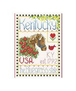 Kentucky Little State Sampler cross stitch chart Alma Lynne Originals - $6.50