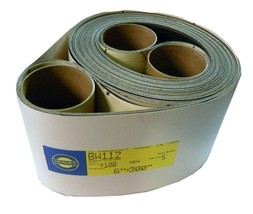 "NEW HERMES ABRASIVE BW114 6"" X 330"" 100 GRIT PACK OF 5 SANDING BELT (4 A... - $79.99"