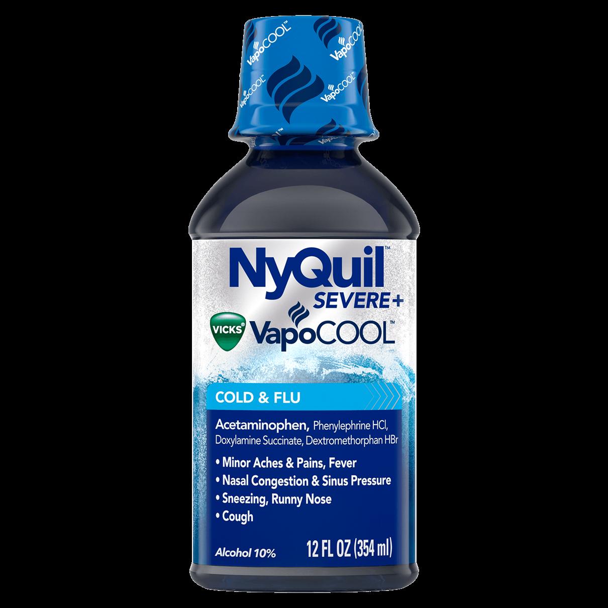 Vicks NyQuil Cold & Flu Nighttime Relief Original Flavor Liquid 12 fl oz(choose)