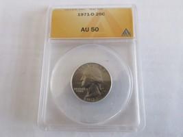 1971-D , Washington Quarter , ANACS , AU 50 - $12.00