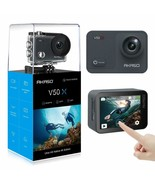 AKASO V50X Native 4K30fps WiFi Action Camera with EIS Touch Screen 4X Zo... - $122.75