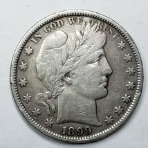 1899 Silver Barber Half Dollar Coin Lot A 187