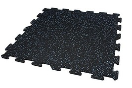 "8mm Strong Rubber Tiles 1 - Corner Tile, Baby Blue 23""x23"" Interlocking Rubber G"