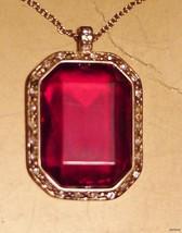 Elegant Red Crown Trifari Pendant Necklace NIB - $31.95