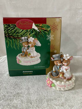 Vintage Carlton Cards Ornament Anniversary Happily Ever After Mouse Wedding 2004 - $13.98