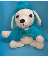 Pet Sets Dog Cat Top Hat & Bow Tie Collar Aqua Blue Handmade Crochet by ... - $18.00