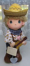 PRECIOUS MOMENTS 15'' Doll cowboy Mickey The world's Children - $15.00