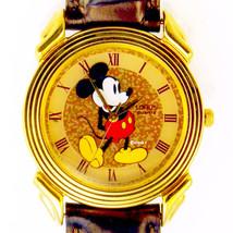 Mickey Disney, Vintage Mans Gold Tone/Brown Dial Watch, Unworn RPR824 Wa... - $64.20