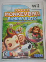 Nintendo Wii - SUPER MONKEY BALL - BANANA BLITZ (Complete with Manual) - $15.00