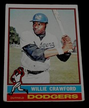 Willie Crawford, Dodgers,  1976 #76 Topps Baseball Card GD COND - $0.99