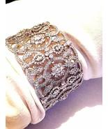 Vintage Stil Echt Crystal 925 Sterlingsilber Filigraner - $628.66