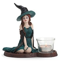 Lenox Emerald Sorceress Witch Votive Figurine Halloween Bewitching Beaut... - £63.14 GBP