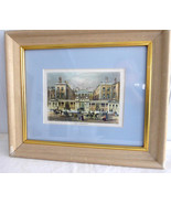 Framed Admiralty Victorian London Print Framed Matted Glass 1970s Tinted... - $28.00