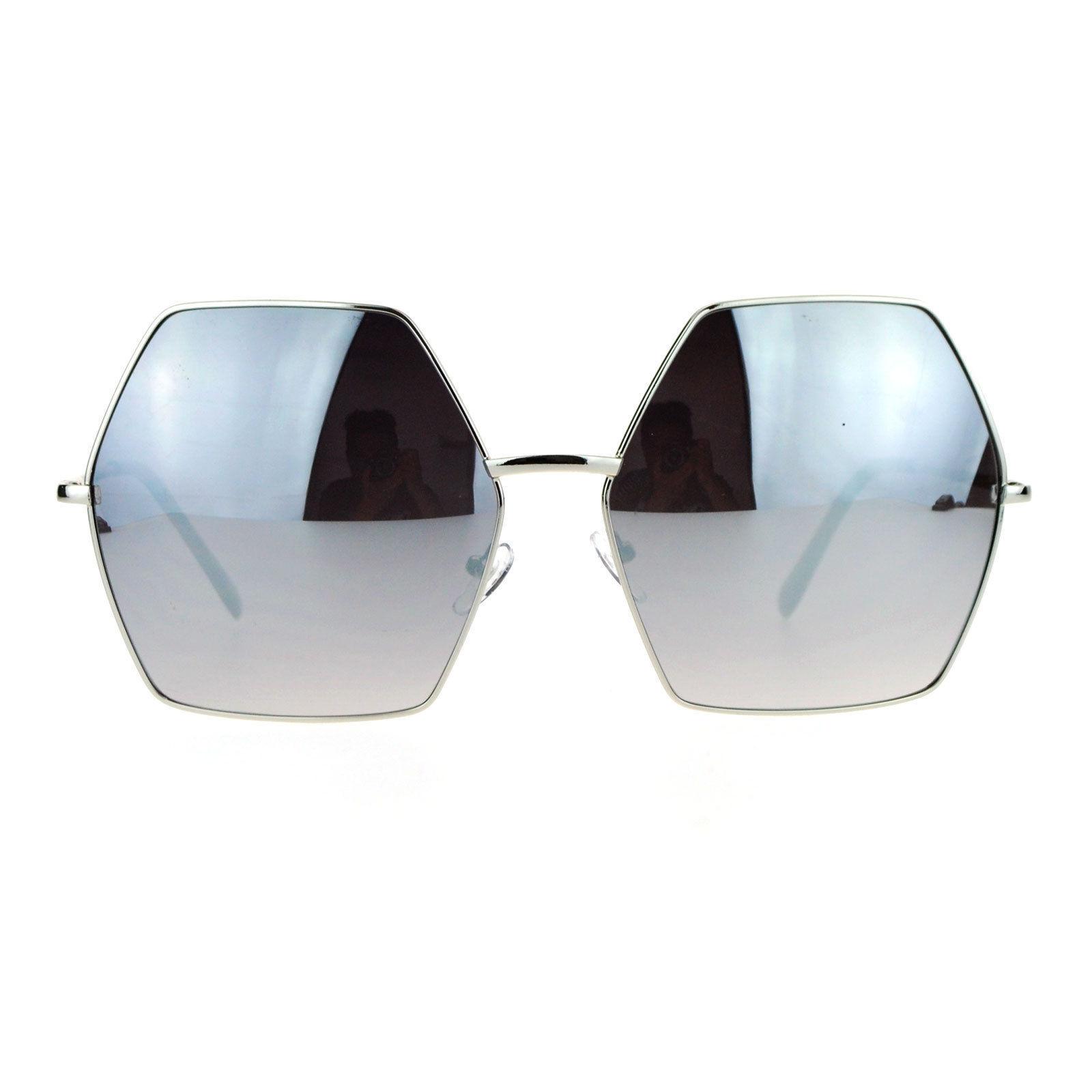 SA106 Color Lens Octagon Oversize Designer Fashion Sunglasses