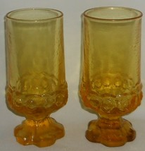 Set (2) Mid Century FRANCISCAN/TIFFIN Madeira ICED TEAS Cornsilk Yellow - $24.74