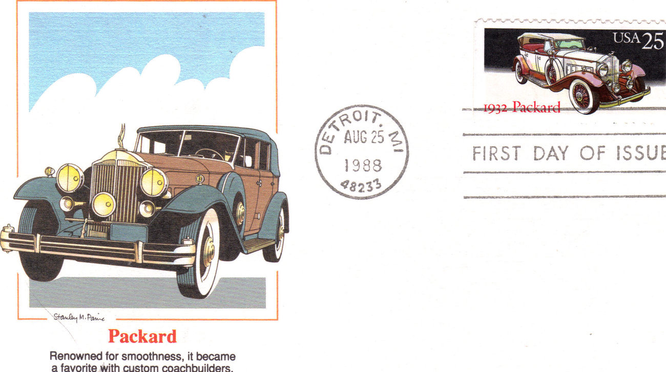 1st day issue packard