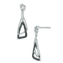 Black and White Simulated Diamond Sterling Silv... - $30.00