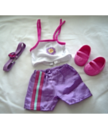 "Purple Shorts White Top Pink Shoes  Fits 18"" Doll American Girl Our Gene... - $9.99"