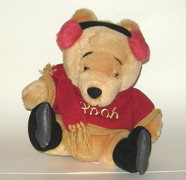 1/2 Price! Winnie the Pooh Musical Plush Ice Skater Wind Up