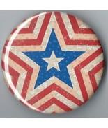 Pin Button: New Patriotic Americana Folk Star  - $2.99