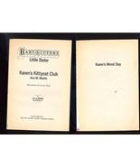 FREE WITH PURCHASE~2 Baby-Sitters Books Karen's Kittycat Club and Karen'... - $0.00