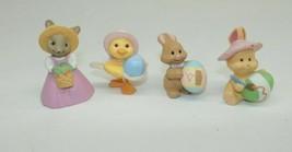 Set of 4 Hallmark Easter Merry Miniature Figurines 1992 - $7.99