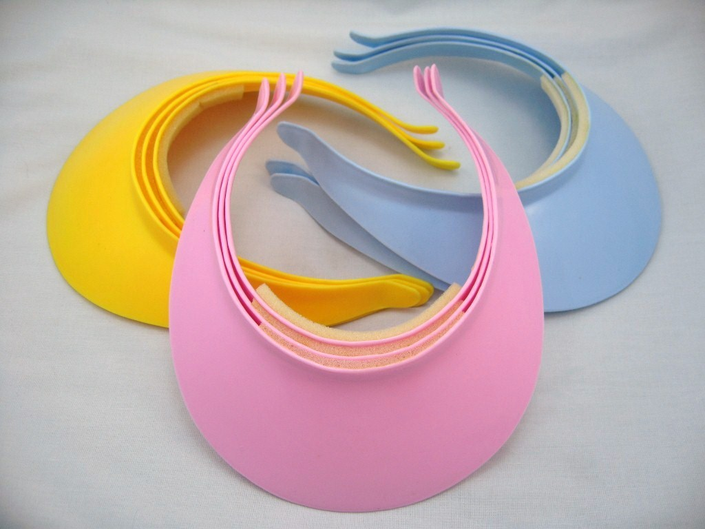 9 PINK/BLUE/YELLOW GIRL BOY PARTY Sun visor fit age 2-8