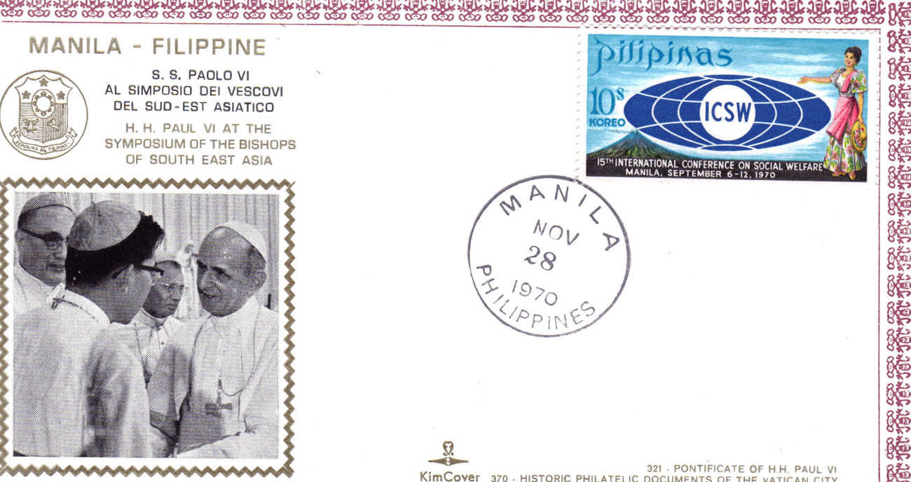 1st day issue pope paulo