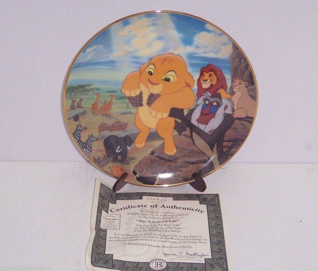disney lion king simba collector plate circle of life. Black Bedroom Furniture Sets. Home Design Ideas
