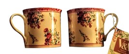 SET OF 2 Victoria and Albert Museum Collection MUGS Rosiland NEW BOX - $59.39