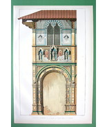 ITALY Florence Facade of Palace Bigallo - COLOR Antique Print Folio Size - $18.90