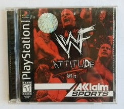 WWF Attitude Wrestling Playstation PS1 PSOne Game Complete! Cleaned Tested WWE - $10.77