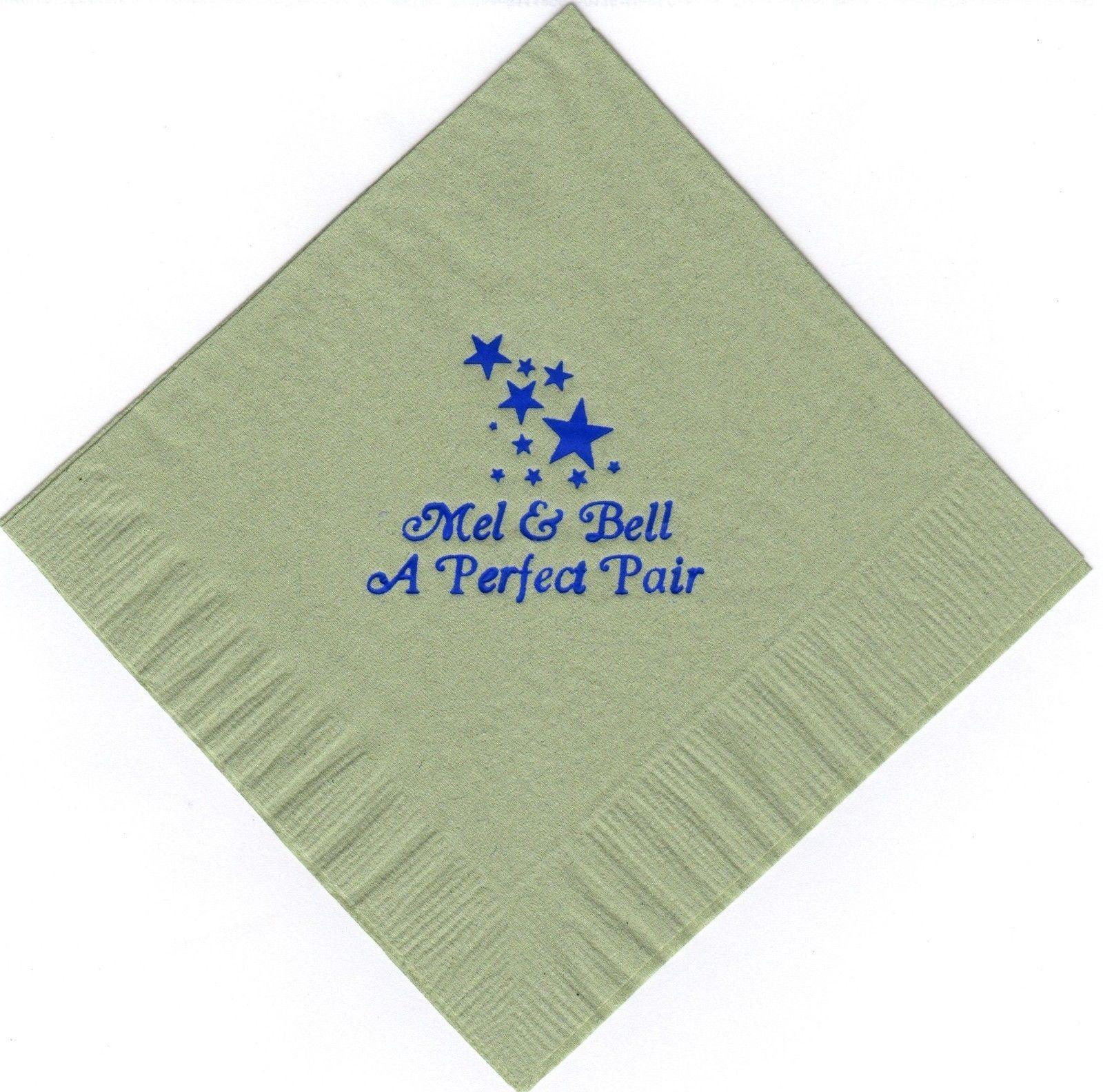 STARS LOGO 50 Personalized printed cocktail beverage napkins
