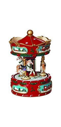 "6"" Wind-up Carousel with Canopy & 3 Horses - $40.00"